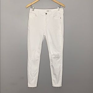 Old Navy Skinny Rockstar White Distressed Jeans 10